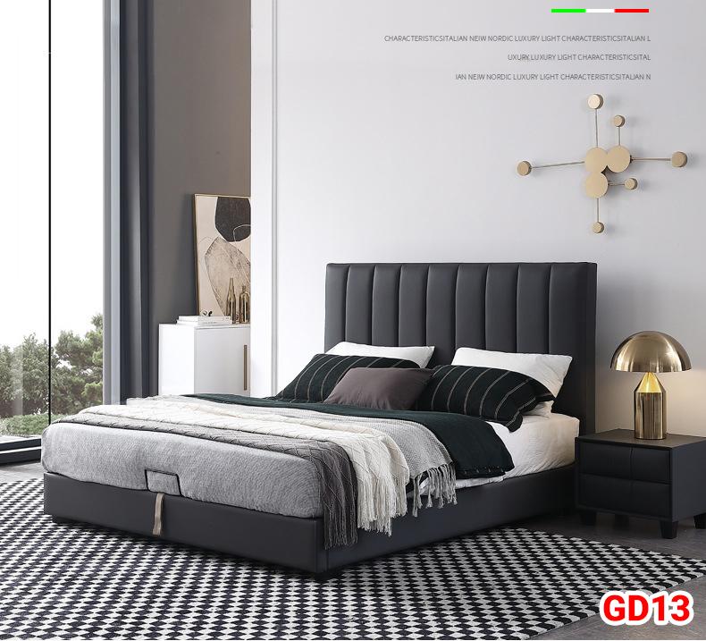 Giường ngủ bọc da GD13