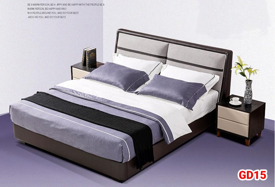 Giường ngủ bọc da GD15