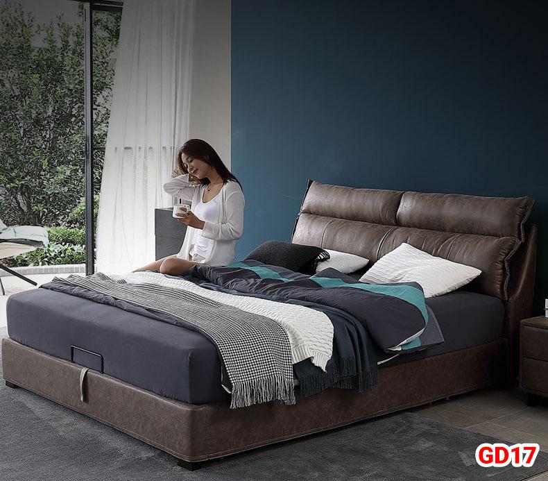 Giường ngủ bọc da GD17