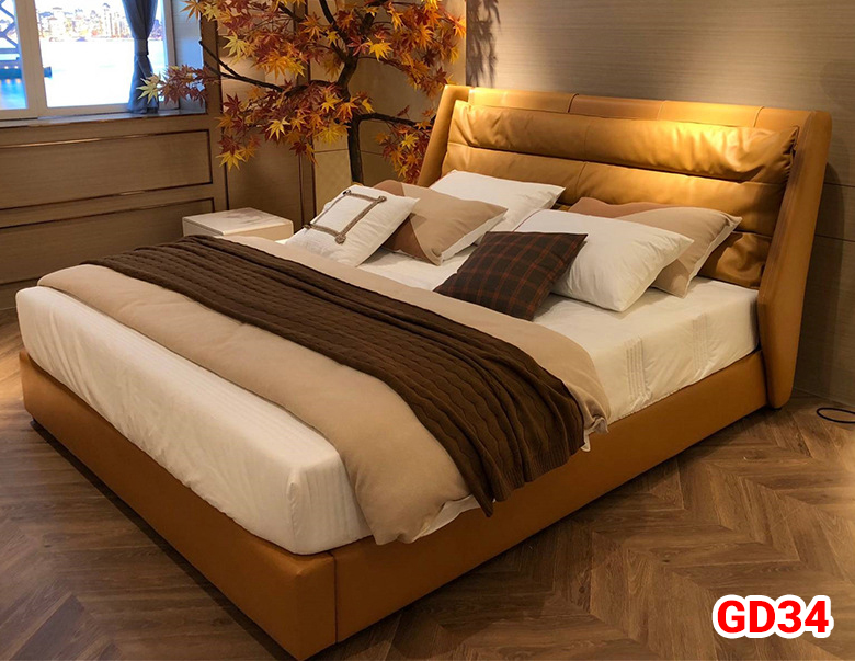 Giường ngủ bọc da GD34