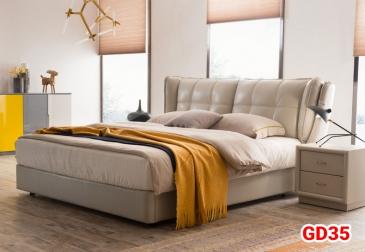 Giường ngủ bọc da GD35