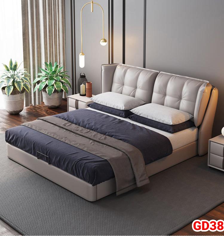 Giường ngủ bọc da GD38