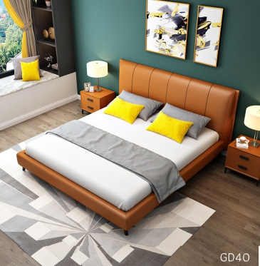 Giường ngủ bọc da GD40
