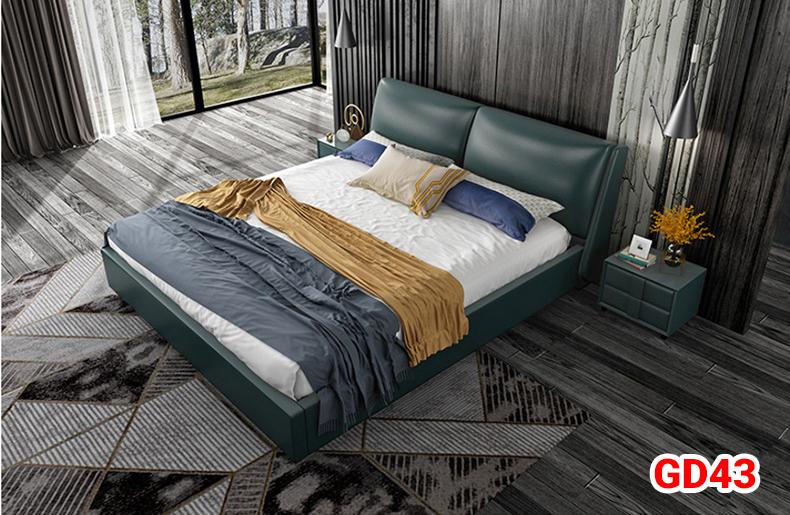Giường ngủ bọc da GD43