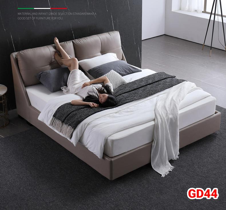 Giường ngủ bọc da GD44