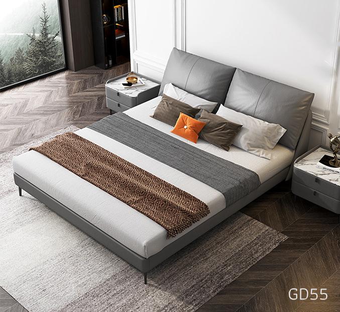 Giường ngủ bọc da GD55