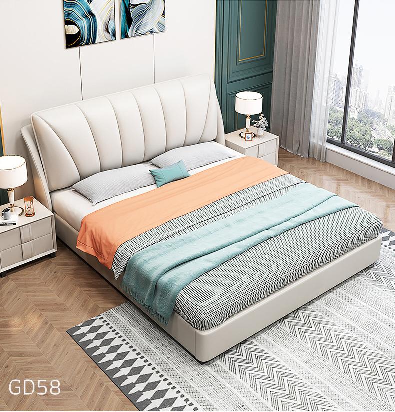 Giường ngủ bọc da GD58