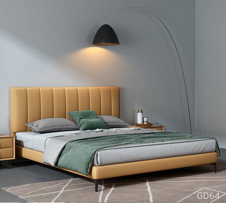 Giường ngủ bọc da GD64