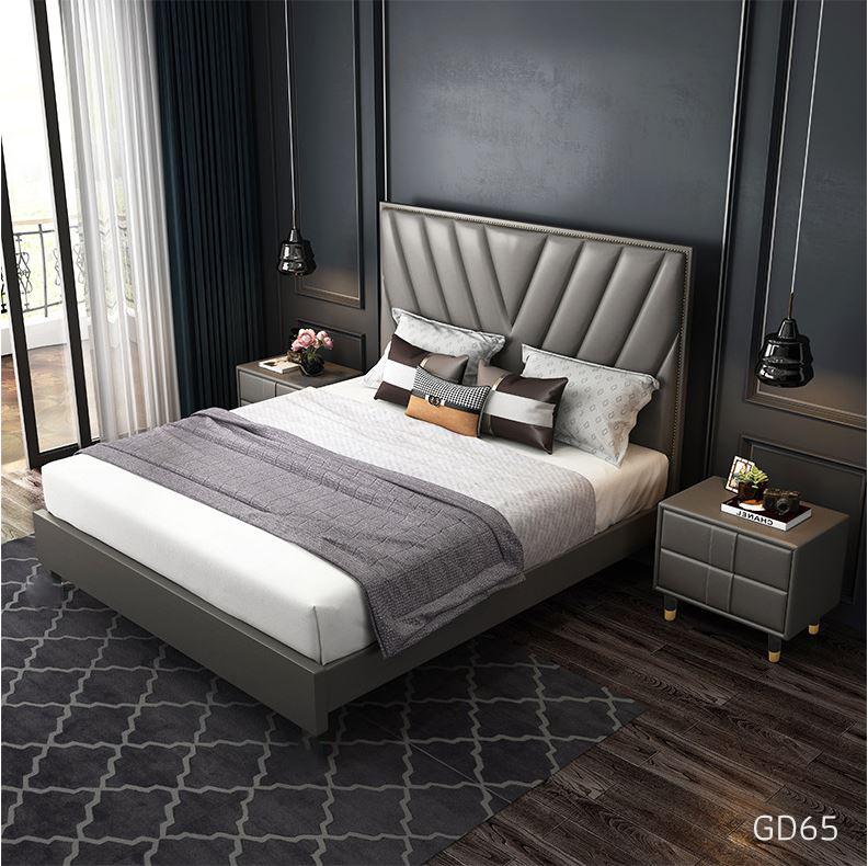 Giường ngủ bọc da GD65