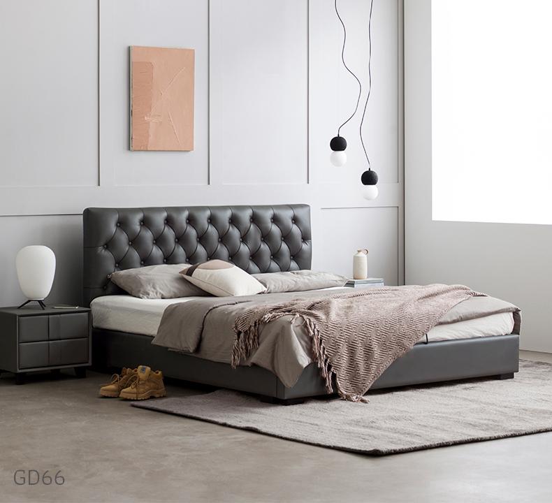 Giường ngủ bọc da GD66