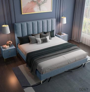 Giường ngủ bọc da GD67