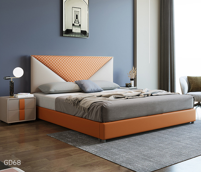 Giường ngủ bọc da GD68