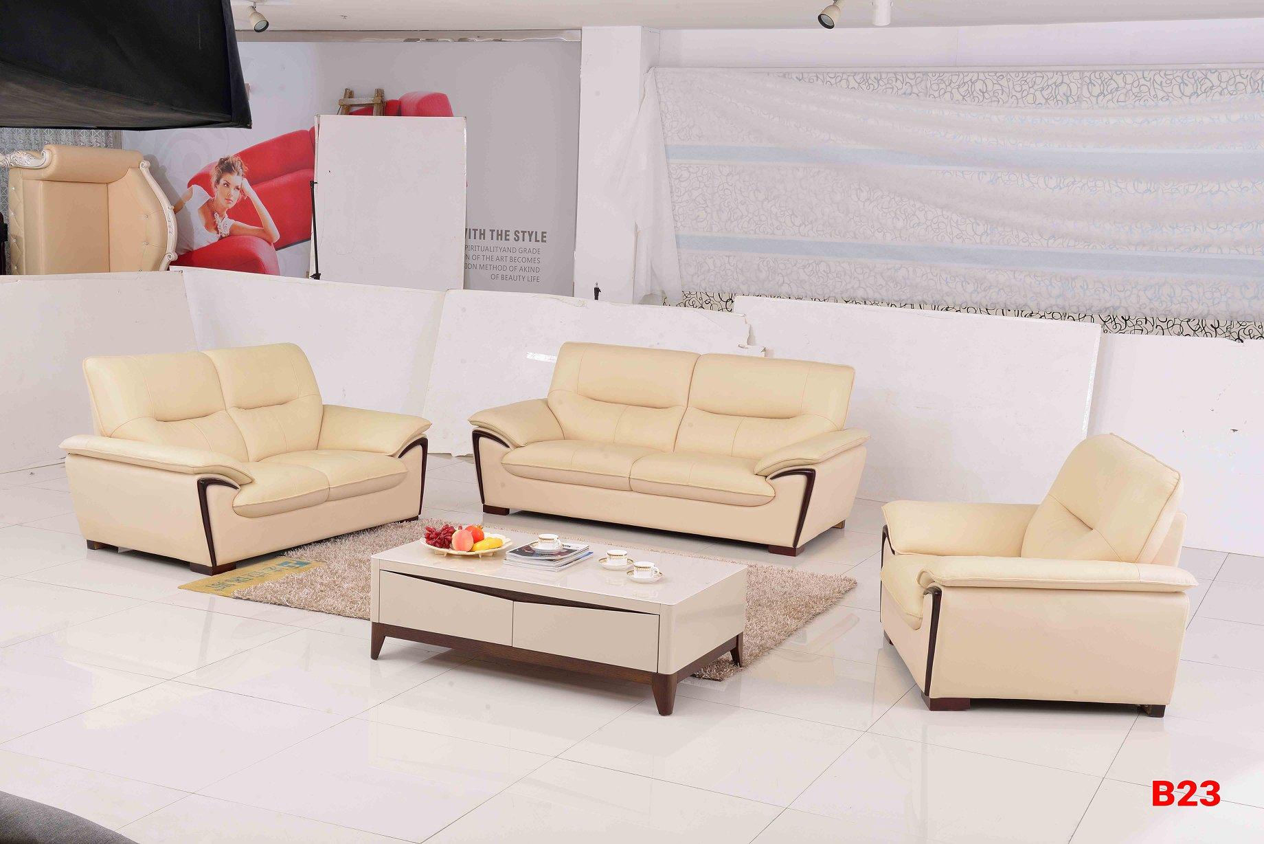 Ghế sofa da phòng khách B23
