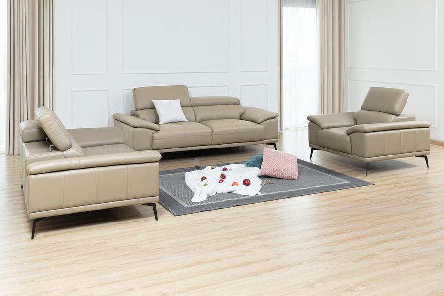 Ghế sofa da phòng khách B24