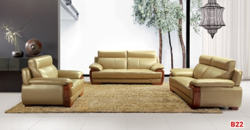 Ghế sofa da phòng khách B22