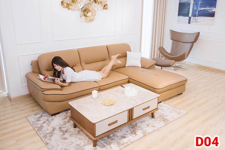 Ghế sofa da D04