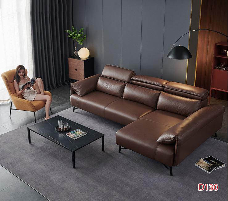Ghế sofa da D130