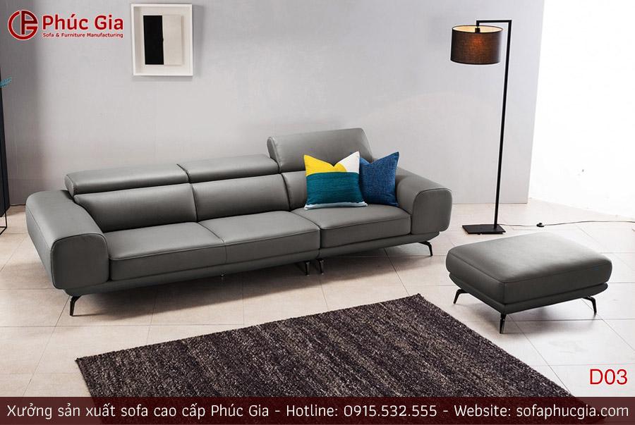 Ghế sofa da D03