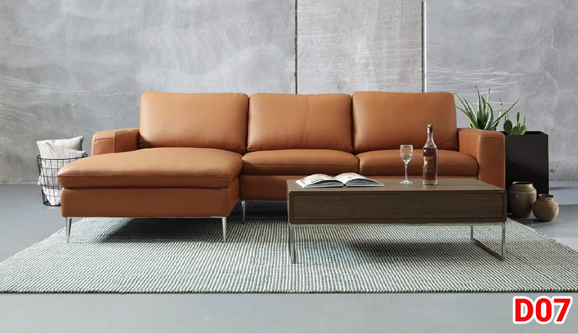 Ghế sofa da D07