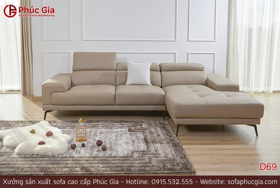Ghế sofa da D69