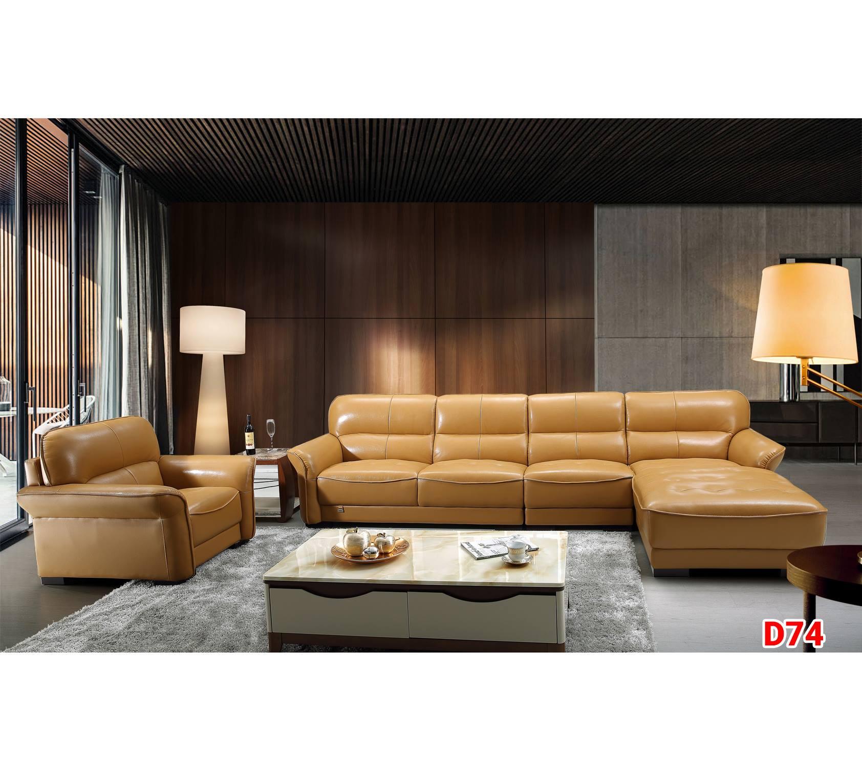 Ghế sofa da D74