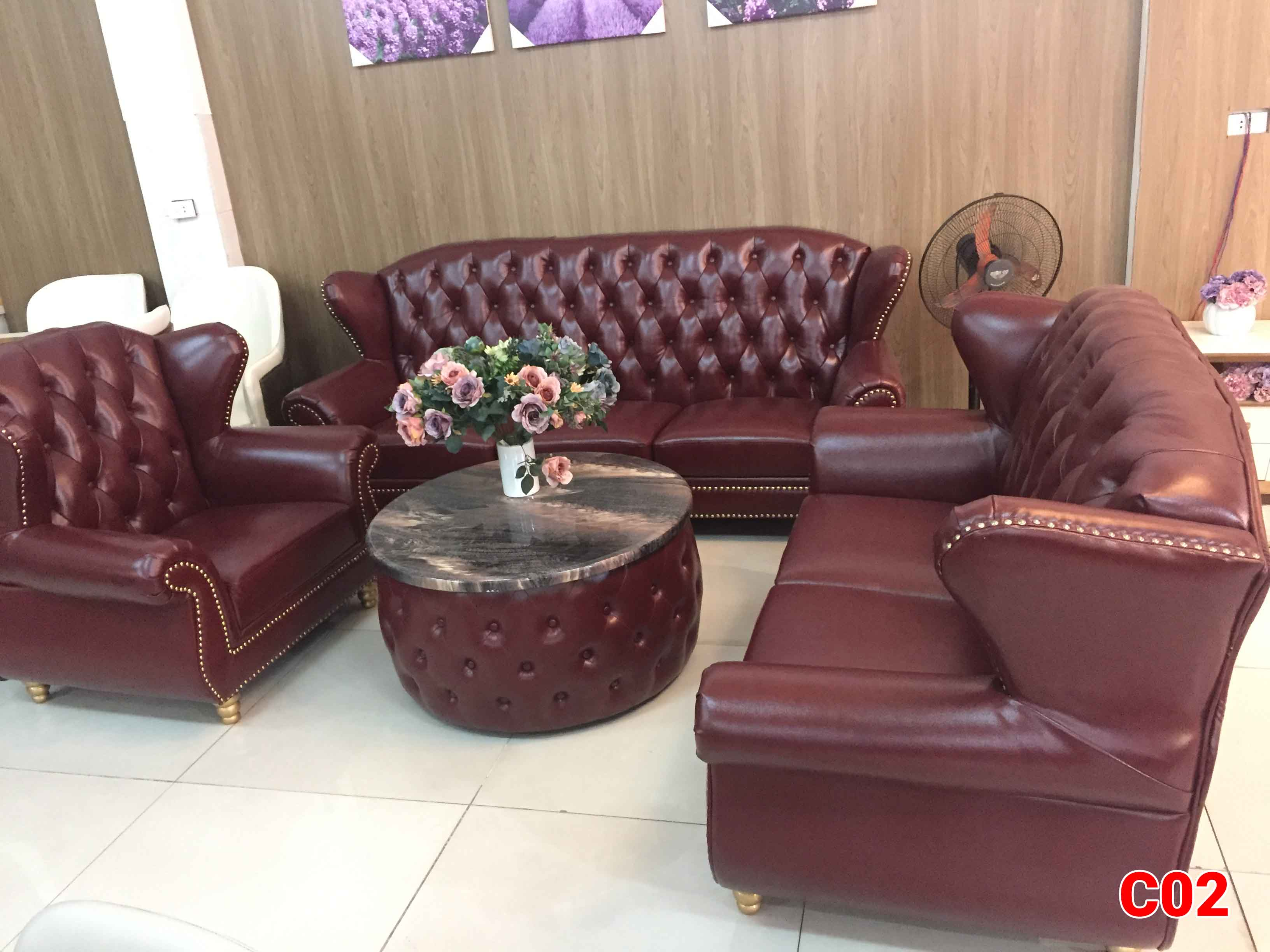 Ghế sofa tân cổ điển C02