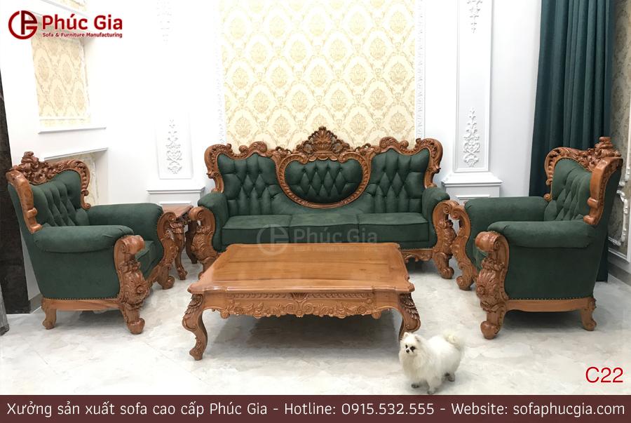 Ghế sofa tân cổ điển C22